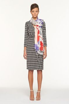 I love this DVF look for work...looks elegant and effortless.