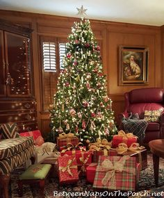 "Shopping for the Best & Most Realistic Artificial Christmas Tree  -  Pinned from ""Between Naps on the Porch"" blog, 11-28-2916."