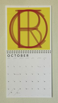 Neutra Typographic Wall Calendar