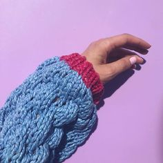 When everything works just as you imagined! Yarn: Pure Cotton Chunky - so soft and delicious in amazing colours! My Little Girl, Fingerless Gloves, Arm Warmers, Colours, Photo And Video, Knitting, Mini, Parrot, Knits