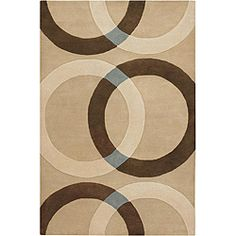 @Overstock - This hand-tufted Mandara wool rug displays a geometric design that makes a great addition to your home or office. This area rug's primary color is beige and features shades of brown, ivory and grey.http://www.overstock.com/Home-Garden/Hand-tufted-Mandara-Beige-Wool-Rug-79-x-106/5202708/product.html?CID=214117 $416.99