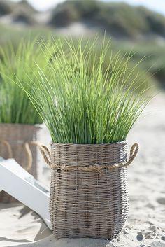 . Coastal Homes, Coastal Living, Beach Homes, Outdoor Plants, Outdoor Gardens, Rattan, Wicker, New England Style, Terrace Design