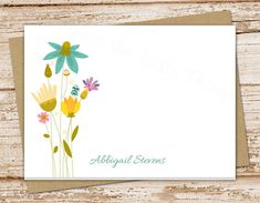 wildflowers personalized flower note cards by CelebrateLilThings