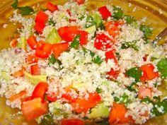 "Mexican Caulifower ""Rice"" Medley - Low Fat Raw Vegan Style From TheOrganicHousewife.net"