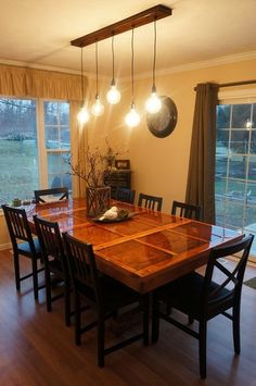 I Enjoy This Simple Quirky Modern Dinning Room Fixturethis Interesting Dining Room Hanging Lights Design Inspiration