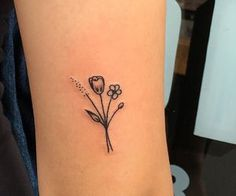 cute little flowers tattoo
