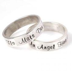 Zilveren Ring met Handgeslagen Tekst - MamaKado: alles mooi voor moeders