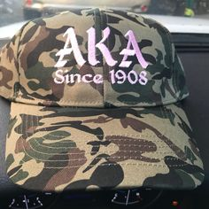 Camouflage Snap Back! Embroidered AKA Since 1908! On the site now www.theliqtees.com!