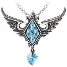 Alchemy Gothic Rose Ice Queen Pendant Gothic Frozen Necklace