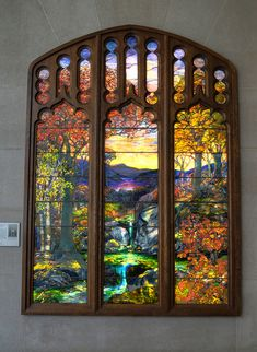 The lovely window by Louis Comfort Tiffany, now on display at the Metropolitan Museum of Art, NYC. (photo by Patrick Ashley)