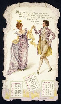 JOY WING THE HAPPY HOURS CALENDAR FOR 1902