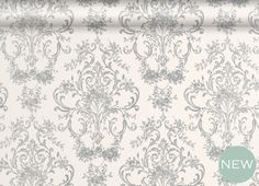 Aston Silver Patterned Wallpaper