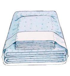 Sheet set folded into a pillow case (James Noel Smith)