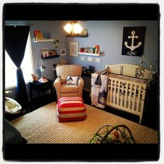 Beau's Nursery - What a great carpet, it goes so nicely with the blue walls! #xmas_present