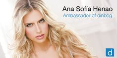 The International Top Model from Colombia Ana Sofía Henao is the new ambassador of dinbog.com. Register now and know a lot more about her, she has many things to tell!