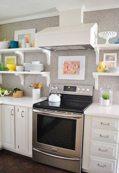 Listy McListerson: Updated   Young House Love// love the backsplash to the ceiling on one wall