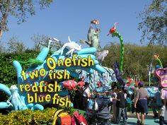 Islands of Adventure #DrSeuss attraction, One Fish Two Fish Red Fish Blue Fish!