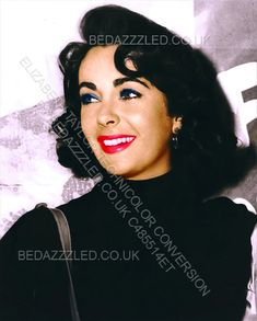 ELIZABETH TAYLOR TECHNICOLOR CONVERSION BY BEDAZZZLED FROM B/W PRINT