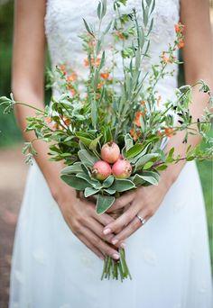 Garden Wedding Herb,Fruit & Vegetable Bouquet