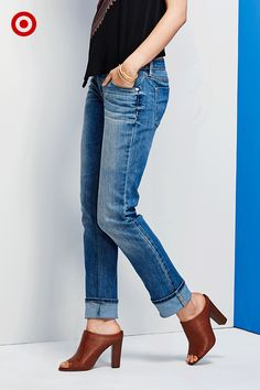 New denim fits and washes designed to show off your favorite footwear trends for fall. Take a stroll through the styles.