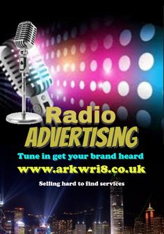 We arrange family run services including radio ad & 1 months radio air time on a northeast podcast and a worldwide internet radio station under £59