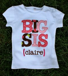 Big Sis/Lil Sis Tee or Onesie by TracyScottDesign on Etsy, $18.50