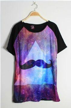 Resultado de imagen para camisa de mujer galaxia con diamante