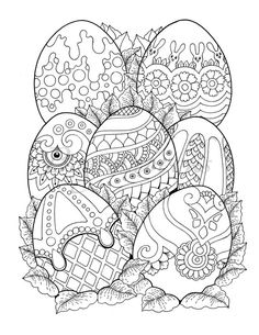Beautiful little town Easter: adult coloring book (coloring pages to relax, stress reliever coloring book) Beautiful little town Easter: coloring book for adults Etsy Easter Egg Coloring Pages, Adult Coloring Book Pages, Printable Adult Coloring Pages, Coloring Pages For Kids, Coloring Books, Spring Coloring Pages, Easter Colors, Mandala Coloring, Easter Art