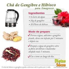 Chá de Gengibre e Hibisco para emagrecer