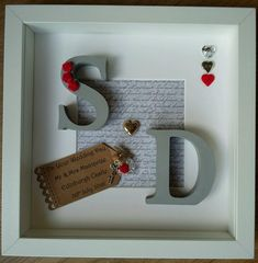 Personalised Wedding, Engagement, Anniversary Framed Gift/Keepsake
