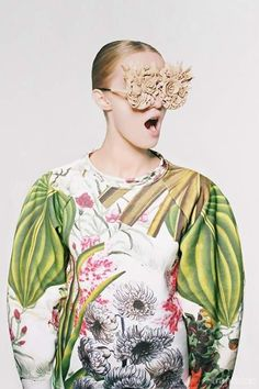 Botanical Layers by Masha Reva - For more fashion trend forecasting, check out Trendstop.com