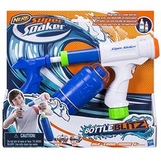 Waterpistool Nerf Super Soaker Bottle Blitz New Kids Water Toys, Nerf Games, Festa Hot Wheels, Power Ranger Party, Large Water Bottle, Cool Toys For Boys, Water Fight, Ninja Weapons, Blitz