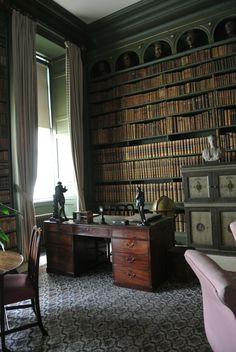 The Study, Belton House by Bea Broadwood