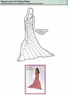 Elegant Lady 8 Iris Folding Pattern on Craftsuprint designed by Sarah Edwards - Elegant Lady 8 Iris Folding Pattern - Now available for download!