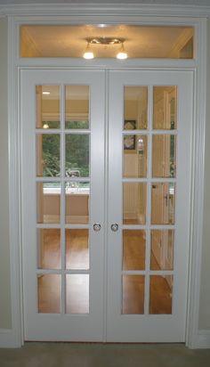 Boudoir Interior Glazed Doors, Door Design Interior, Home Room Design, House Design, Antique French Doors, French Doors Bedroom, Open Plan Kitchen Living Room, Room Doors, House Rooms