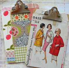clipboard decor. Organize projects and inspirations. Play with colour and pattern