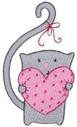 Too Cute Valentine 2 - 2 Sizes! | What's New | Machine Embroidery Designs | SWAKembroidery.com Bunnycup Embroidery