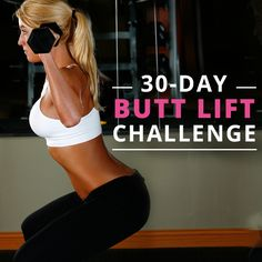 Take the 30-Day Butt Lift Challenge for a natural rounder, firmer, and lifted butt! Who's in?  #buttliftchallenge #glutes #betterbutt