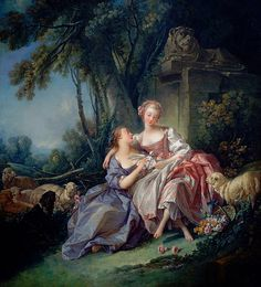 François Boucher (french rococo painter, 1703-1770) -The Love Letter -1750  by Plum leaves, via Flickr