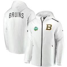 Boston Bruins Fanatics Branded 2019 NHL Winter Classic Authentic Pro Hooded  Full-Zip Jacket - White 7e1d0fe33