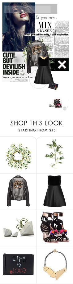 """Night Out LBD"" by solespejismo ❤ liked on Polyvore featuring Libertine, Patagonia, Pier 1 Imports, Gucci, RED Valentino, Luna, Sophia Webster and Arielle De Pinto"