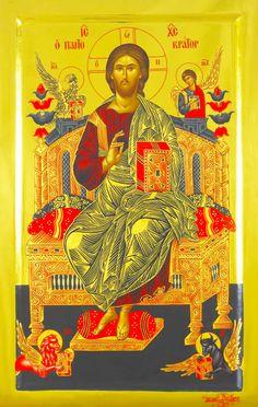 Jesus Christ Pantocrator, from Vatopedi Monastery Byzantine Icons, Byzantine Art, Religious Icons, Religious Art, Jesus Prayer, Jesus Christ, Christ Pantocrator, Christ The King, Orthodox Icons