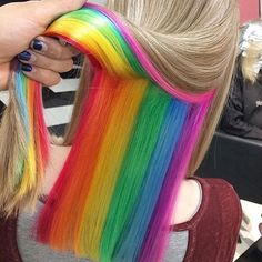 SLFMag — Hidden Rainbow Hair Color  Credit: spookyruno