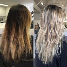 Hairstyles and Beauty: The Internet`s best hairstyles, fashion and makeup pics are here. Brown Hair Dyed Blonde, Silver Blonde, Dyed Hair, Hair Dye Colors, Hair Color, Chic Short Hair, Balayage Hair, Bayalage, Light Brown Hair