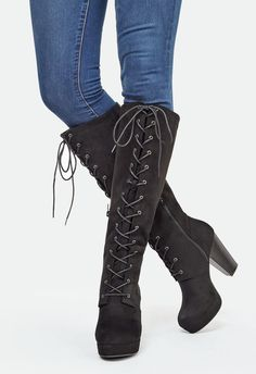 Who can resist a lace up faux suede bootie?! This style combines both sass and…