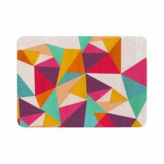 "Kathleen Kelly ""Diamond"" Geometric Pink Memory Foam Bath Mat"