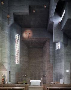 Christi Auferstehung, Köln-Lindenthal. By Gottfried Böhm (1957)