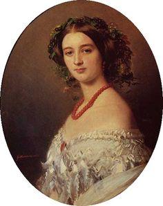 Franz Xaver Winterhalter (1805–1873)   Portrait of Maria Louise of Wagram, Princess of Murat (1832-1884)  Date1854
