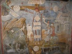 Around the entrance of refectories in Orthodox monasteries, there can sometimes be seen a shocking image of a monk being crucified. The unnamed monk silently reposes on the cross, whilst around him…