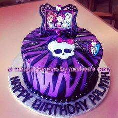 Zebra monster high cake.